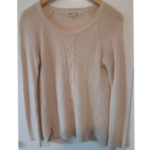 Olive & Oak cable knit cream sweater